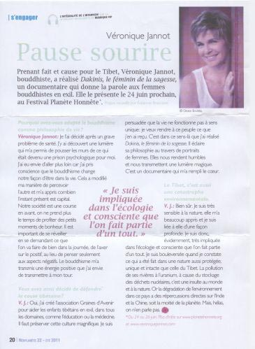 PARUTION PRESSE - VERONIQUE JANNOT - ETE 2011